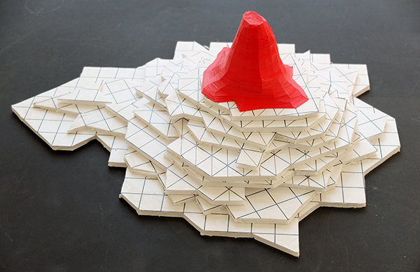 carton plume impression 3D 14x40x30